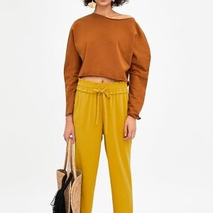 Zara Long Sleeve Cropped Sweater